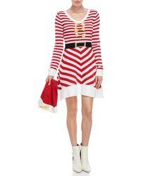 Derek Heart - Two-piece Candy Cane Dress & Hat Set - Lyst