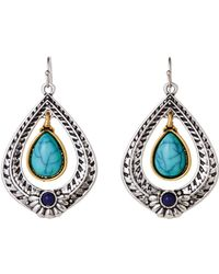 Catherine Stein - Silver-Tone Drop Earrings - Lyst