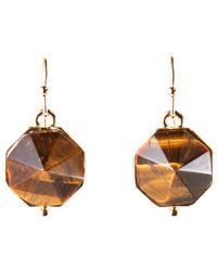Catherine Stein - Gold-Tone & Tiger Eye-Inspired Earrings - Lyst