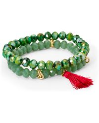 Catherine Stein - Green Double Strand Beaded Bracelets - Lyst