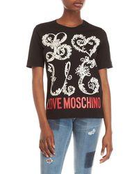 Love Moschino - Graphic Tee - Lyst