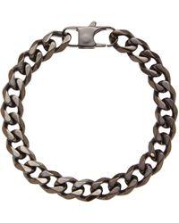 Blackjack - Hematite-Tone Linked Bracelet - Lyst