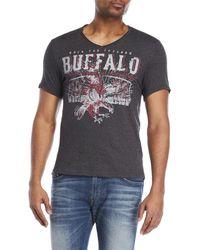 Buffalo David Bitton - Nosmin Graphic V-neck Tee - Lyst