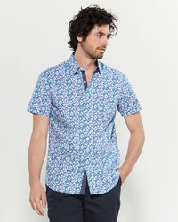 e3677d553 Con.struct Chrysanthemum Stretch Slim Fit Short Sleeve Sport Shirt ...
