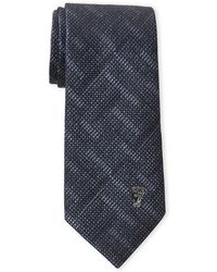 Versace - Blue Shaded Neat Silk Tie - Lyst