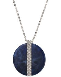 Swarovski - Disk Large Pendant Necklace - Lyst