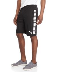 PUMA - Back & Forth Logo Shorts - Lyst