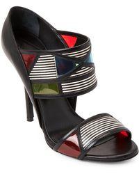 Aperlai - Akara Double Strap Leather Sandals - Lyst