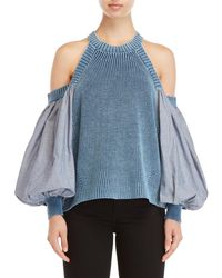 Free People - Catch A Glimpse Cold Shoulder Top - Lyst