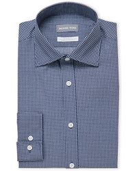 Michael Kors - Navy Printed Slim Fit Dress Shirt - Lyst
