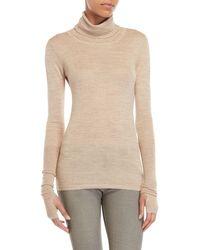 Nicholas K - Champagne Turtleneck Sweater - Lyst