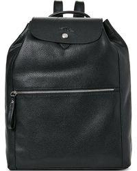 Longchamp - Black Le Foulonne Leather Backpack - Lyst