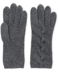 Portolano - Cashmere Cable Knit Gloves - Lyst