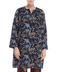 Ottod'Ame - Abstract Floral Overcoat - Lyst