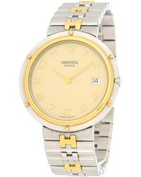 Hermès - Stainless Steel Clipper Watch - Vintage - Lyst