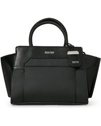 Kenneth Cole - Black Amie Faux Leather Satchel - Lyst