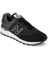 New Balance - Black & Grey 574 Lifestyle Sneakers - Lyst