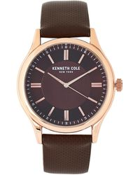 Kenneth Cole - Kc501 Rose Gold-tone Watch - Lyst