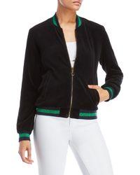 Pam & Gela - Metallic Stripe Reversible Bomber Jacket - Lyst