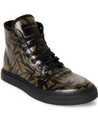 Marc Jacobs - Olive & Black Printed Leather High-top Sneakers - Lyst