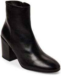 ce2bea12536489 On sale Gabriella - Black Leather Block Heel Ankle Boots - Lyst