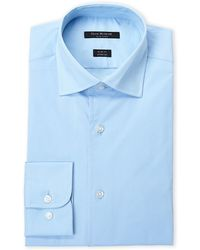 Isaac Mizrahi New York - Turquoise Stretch Slim Fit Dress Shirt - Lyst