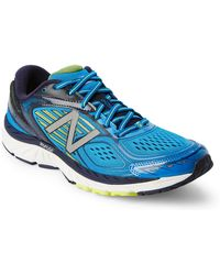 New Balance - Blue & Yellow 860 V7 Running Sneakers - Lyst