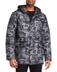 Hawke & Co. - Camouflage Hooded Down Coat - Lyst