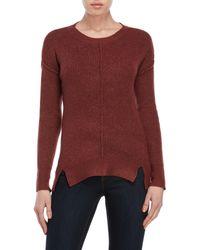 Pink Rose - Ribbed Vented Hem Sweater - Lyst