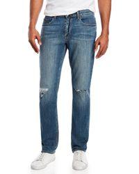 PAIGE - Sanford Destructed Federal Jeans - Lyst
