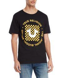 True Religion - Checkered Circle Logo Tee - Lyst