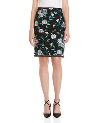 Tahari - Floral Embroidered Pencil Skirt - Lyst