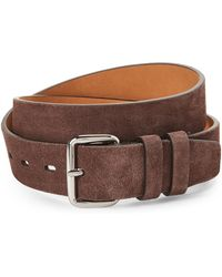 Cole Haan - Chestnut Leather Double Keeper Belt - Lyst