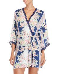 In Bloom - Country Fair Printed Robe - Lyst
