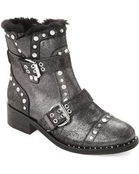 d4b7fae3f069d8 Sam Edelman - Pewter Drea Studded Leather Ankle Boots - Lyst