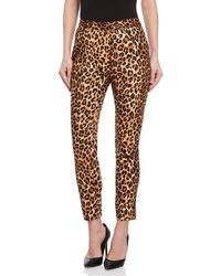 Walter Baker - Leopard Print Ankle Pants - Lyst