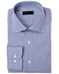 Ike By Ike Behar | Lavender & Navy Houndstooth Dress Shirt | Lyst