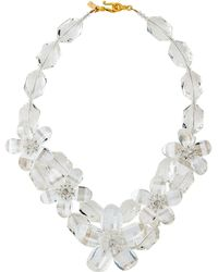 Kenneth Jay Lane - Clear Resin Floral Necklace - Lyst