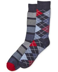 Ben Sherman - 2-pack Stripe & Argyle Crew Socks - Lyst
