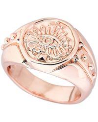 Luv Aj - Rose Gold-tone Evil Eye Pinky Ring Size 4.5 - Lyst