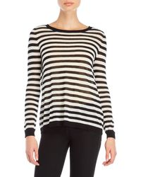 GAUDI - Striped Knit Top - Lyst