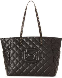Bebe - Olivia Icon Quilted Logo Tote - Lyst