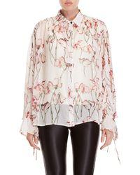 Religion - Care Floral Cape Shirt - Lyst