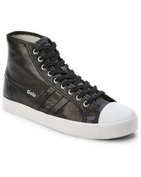 Gola - Black Coaster Metallic High-top Sneakers - Lyst