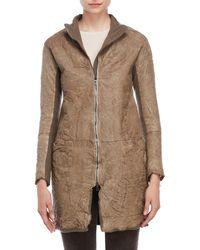 Transit - Longline Leather Jacket - Lyst