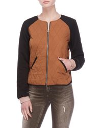 Scotch & Soda - Quilted Knit Bomber Jacket - Lyst