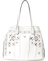 1194296b833704 Moda Luxe - White Chanel Perforated Bag-in-bag Tote - Lyst
