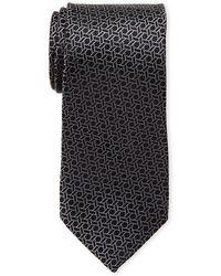MICHAEL Michael Kors - Silk Hexagon Geo Print Tie - Lyst