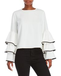 Do+Be Collection | Ruffle Sleeve Top | Lyst