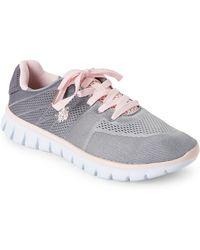 U.S. POLO ASSN. - Grey & Light Pink Mandy Low-top Sneakers - Lyst